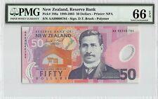 New ListingNew Zealand Nd 1999 P-188a Pmg Gem Unc 66 Epq 50 Dollars