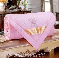 New 100% Silk Comforter Mulberry Silk Filled Comforter Silk Duvet Quilt Blanket