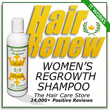 HAIR RENEW REGROWTH SHAMPOO - reverse menopausal thinning hair loss - alopecia