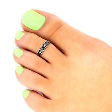 Sterling silver toe ring Tribal design toe ring adjustable toe ring (T-134)