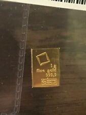 SPECIAL PRICE! 1 gram Gold Bar - Valcambi Suisse .9999 Fine Gold