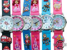 Armbanduhren aus Edelstahl mit Silikon -/Gummi-Armband für Kinder