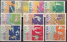 SERIE FRANCOBOLLI 1964 ALBANIA 10 VALORI OLIMPIADI DI TOKYO  1964 707-16 MNH**