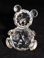 "Swarovski Crystal Seated Bear, 2 3/4"""