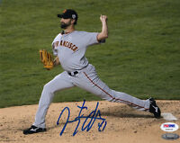JEREMY AFFELDT SIGNED AUTOGRAPHED 8x10 PHOTO SAN FRANCISCO GIANTS PSA/DNA