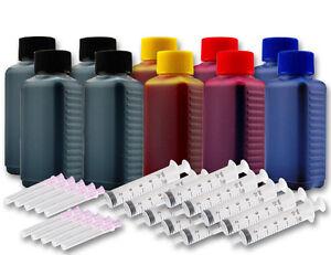 1000ml Drucker Tinte Nachfüllset für Canon Pixma TS7450 TS7451