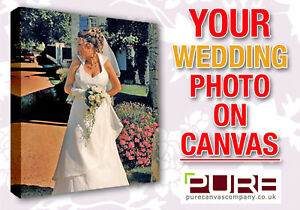 Your Wedding Photo On Box Canvas A1
