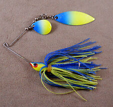 Bass Fishing Lure DR Custom Spinnerbait 1/4 oz, 1 Colorado & 1 Willowleaf Blade