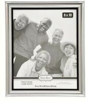 "Special Moments Silver Curved Traditional Photo Frames, 8x10"" Easel & Hang Back"