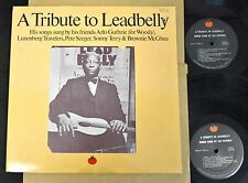 A Tribute To Leadbelly 2 LP Arlo Guthrie Lunenberg Travelers Pete Seeger