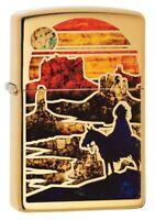Zippo Zfusion Desert High Polish Brass Windproof Pocket Lighter, 254B-081293