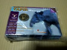 10 pcs Coin card tapir malaya malayan endangered species animal 2003 unc bu