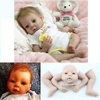 New Reborn Dolls Set Vinyl Silicone Handmade 20 Inch Sleeping Baby Doll Supplies