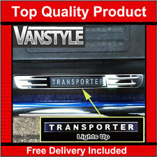 VW T6 TRANSPORTER DOOR SILL PLATES LED, LIGHTS UP SCUFF PLATE ILLUMINATED CHROME