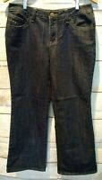 *BACCINI* SIZE 10P WOMEN'S BOOT CUT EMBELLISHED DARK WASH BLUE JEANS - 9/8
