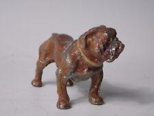 "English Bulldog 3"" Vintage Antique Figurine Vienna Cold Painted Dog Figurine"