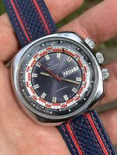 Vintage Concordia Triple Crown World Timer Mens Watch Automatic FE 5611 43,5mm