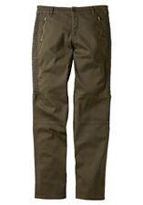 Sheego Hose Kurz-Gr.22,23,24,25 NEU Damen Taupe Stretch Cargo L30 Slim Fit