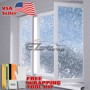 Premium Frosted Film Glass Home Bathroom Window Security Privacy Sticker #4001