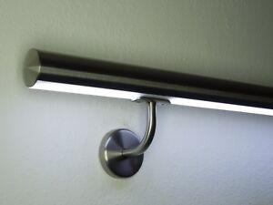 Edelstahlhandlauf mit LED Beleuchtung LED Handlauf, Ø48,3mm öffentlicher Bereich