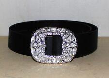 St. John vintage belt jeweled rhinestone cluster buckle belt   6
