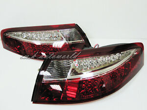 LED Tail Rear Lights RED&CLEAR Lens for PORSCHE 911 996 99 00 01 02 03 04