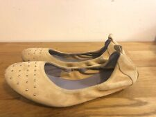 Cole Haan Shoes Nude Suade Leather Ballet Flats Shoes Size 7.5 M B