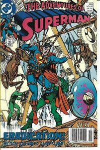 THE ADVENTURES OF SUPERMAN #460 DC COMICS 1989 BAGGED AND BOARDED