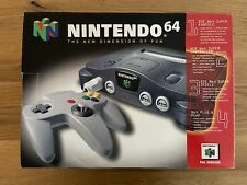 Nintendo 64 Grau Spielekonsole (PAL) - mit OVP & Extension, Sehr Guter Zustand!