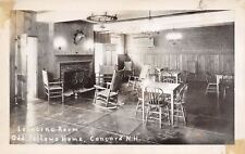 Concord New Hampshire~Odd Fellows Home Lounging Room~1930s Real Photo Postcard