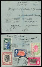 6258 - PERSIA! 1950 REGISTERED + CHARITY REVENUE ON COVER MECHED TO ENGLAND