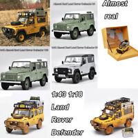 1:43 1:18 Almost Real Land Rover Defender 90 110 Camel Trophy Diecast Model Car