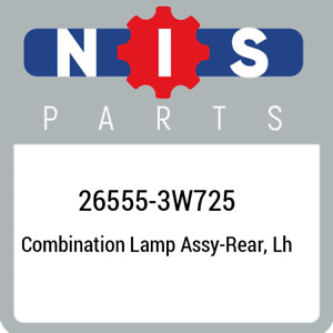26555-3W725 Nissan Combination lamp assy-rear, lh 265553W725, New Genuine OEM Pa