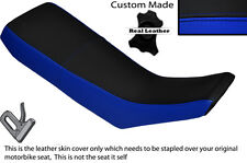 ROYAL BLUE & BLACK CUSTOM FITS YAMAHA DT 125 R 90-98 DUAL LEATHER SEAT COVER