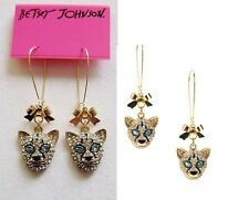 E452 Betsey Johnson Gold Lion King Cub Simba Leopard Cat Kitty Earrings UK