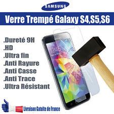 Verre trempé écran Samsung Galaxy s4 s5 s6 incassable protection choc vitre 9H