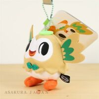 Pokemon Center Original pokemon time Rowlet Plush Mascot Key Chain Japan