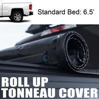 ROLL-UP SOFT TONNEAU COVER 14-17 18 GMC SIERRA 1500/2500/3500 HD DENALI 6.5' BED