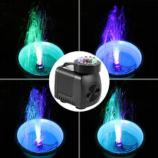 Submersible 500L/h Water Pump With Rgb Led Light for Pond Garden Fountain Deco