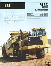 Equipment Brochure - Caterpillar - 615C Series Ii Elevating Scraper 1993 (E2388)