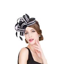Womens Sinamay Fascinator Cocktail Headband Wedding Royal Ascot Racing Hat T222