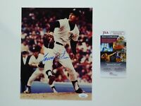 Tommy John MLB Signed 8x10 Photo Autographed New York Yankees JSA COA