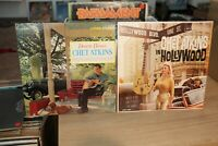 "(2) Chet Atkins - ""Down Home"", ""In Hollywood"" LP Vinyl Record lot VG+/VG+"