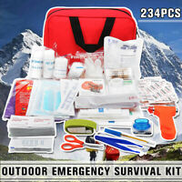 234Pcs Practical Travel First Aid Kit Outdoor Emergency Medical Survival