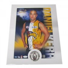 WEST COAST EAGLES DANIEL KERR HAND SIGNED AFL HERO SHOT PRINT ONLY