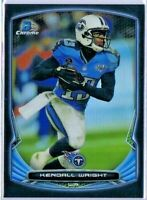 Kendall Wright 2014 Bowman Chrome Football Black Refractor #92 Titans /299