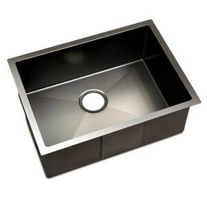 Kitchen Sink with Waste Strainer Black - 60 x 45cm