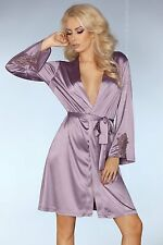 LIVCO CORSETTI Maverick Luxury Super Soft Satin Dressing Gown