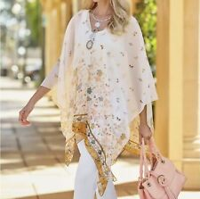 Women's Summer fall Cruise sheer cover Scarf Poncho Blouse top One Size fit most