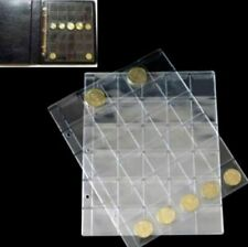 30 Pockets Classic Coin Holder Sheets For Storage Collection Money Album Case